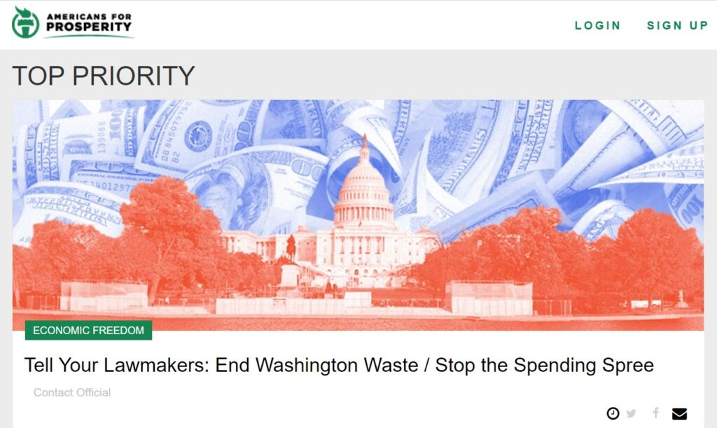 Click here to tell your lawmakers: End Washington Waste and stop the spending spree!
