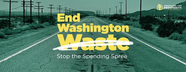 End Washington Waste. Stop the spending spree.