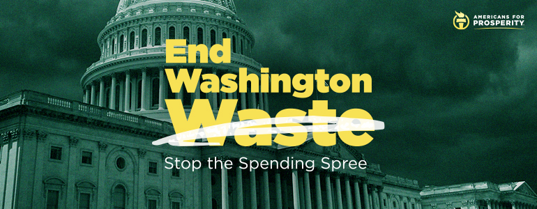 Click here to End Washington Waste and Stop the Spending Spree