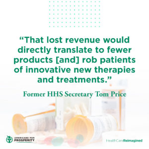 Tom Price shares why drug price controls are harmful