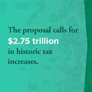 The president's infrastructure plan calls for $2.75 trillion in historic tax increases